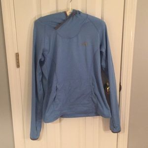 The North Face M light blue hoodie